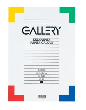 Gallery kalkpapier, ft 21 x 29,7 cm (A4), blok van 20 vel