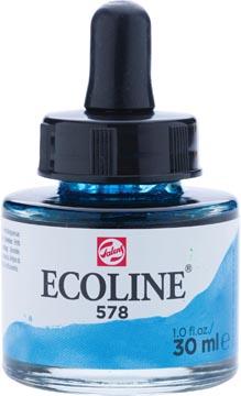 Talens Ecoline waterverf flacon van 30 ml, hemelsblauw (cyaan)