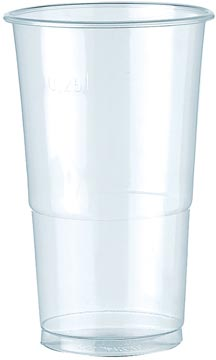 Drinkbeker uit polypropyleen voor koude dranken, 250 ml, transparant, pak van 100 stuks