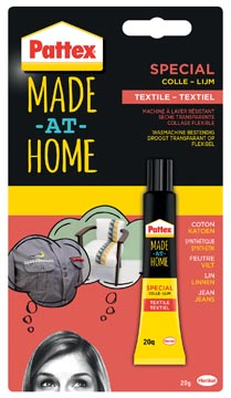 Pattex Made At Home textiellijm, tube 20 g op blister