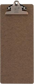 Securit rekening clipboard, bruin met RVS Clip, 27,8 x 11,4 cm