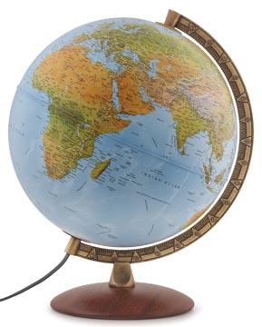 Wereldbol Astra, met dubbel effect: reliëf en politiek, diameter 30 cm, Frans