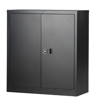 Bisley draaideurkast, ft 100 x 91,4 x 40 cm (h x b x d), 1 legbord, zwart