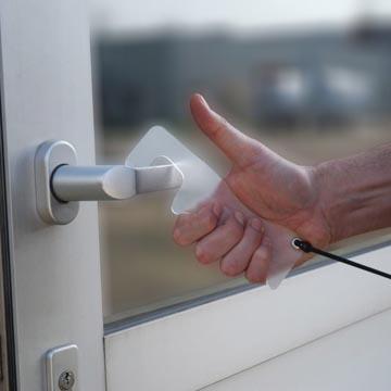 Jalema hands-free deur opener, transparant, ft 170 x 52 mm, pak van 4 stuks