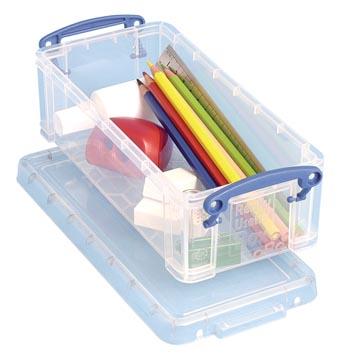 Really Useful Box 0,9 liter, transparant